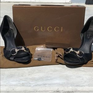 Authentic Black Gucci Heels